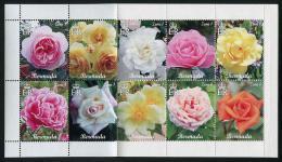 BERMUDA 2015 - Fleurs, Roses Des Iles Bermuda - 10 Val En Carnet Neufs // Mnh Booklet Of 10 Stamps - Bermudes