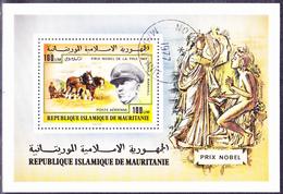Mauretanien - Nobelpreisträger (Mi.Nr.: Bl. 17) 1977 - Gest Used Obl - Mauritanie (1960-...)