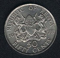 Kenia, 50 Cents 1978, UNC - Kenya