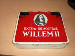 Extra Senoritas Willem II 20 Sigaren No 574  Valkenswaard Holland - Boites à Tabac Vides