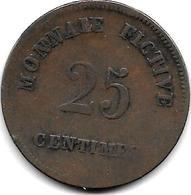 RECKHEIM PRISON ISSUE 25 Centimes 1848    RM2.3  VF - Belgique