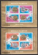 Rumänien; 1988; Michel Block 250 Und 251 **; Olimpische Sommerspiele Seoul - 1948-.... Republics