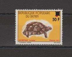 Timbre Tortue 1972 Surchargé 50F En 1979 Neuf ** MNH - Bénin – Dahomey (1960-...)
