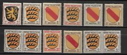 ALLEMAGNE     -     1945  . LOT -     Armoiries.  Neufs ** - Zone Française