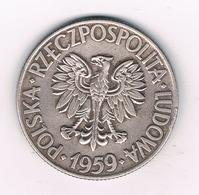 10 ZLOTY 1959 POLEN /0320// - Pologne