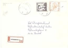 Belgique 1977 - Lettre Recommandée De ETTERBEEK - Bruxelles - Cob 1071/1649 - Belgique