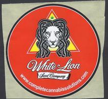 White Lion - Seed Company -  Complete Cannabis Solutions /Autocollant / Sticker /Adesivo - 9cm - Adesivi