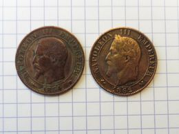 Lot Napoleon 5 Centimes 1854 Ma  1862 K - France