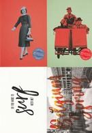 4 Different  Boomerang Guidooh Postkaarten Postcards Carte Postale Atomium Expo - Publicité
