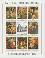 Bicentenaire Du Louvre 1993 Antigua Et Barbuda Rubens 1554-61 ** MNH - Arts