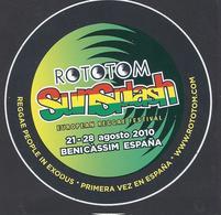 2010 - ROTOTOM - SunSplash - European Reggae Festival /Autocollant / Sticker /Adesivo - 9,5cm - Adesivi