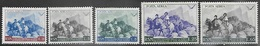 San Marino    1949   Sc#C57-61  MLH  Airmail Set     2016 Scott Value $15.65 - Poste Aérienne