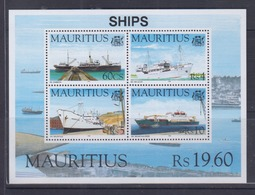 Mauritius 1996 Ships S/S MNH - Mauritanie (1960-...)