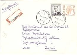 Belgique 1977 - Lettre Recommandée De KEERBERGEN - Brabant Flamand - Cob 1071/1649 - Belgique