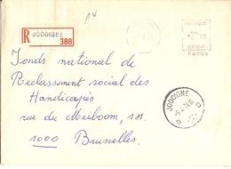 Belgique 1974 - Lettre Recommandée De JODOIGNE - Brabant Wallon - Cachet Mécanique 23 F - P2205 - Belgique