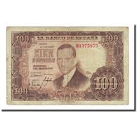 Billet, Espagne, 100 Pesetas, 1953-04-07, KM:145a, TB - 100 Pesetas