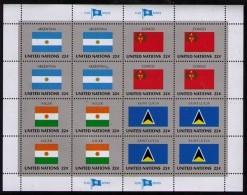 BANDERAS ONU - NU FLAGS - MINI HOJA - MINI SHEET - ARGENTINA - CONGO - NIGER - SAINT LUCIA - Sellos