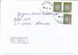 Registered NVI Domestic Cover - 7 February 2000 Klaipeda-14 - Lithuania