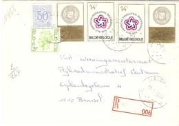Belgique 1976 - Lettre Recommandée De MALDEREN - Brabant Flamand - Cob 854/1694/1797 X 2 Avec Vignette Attenante - Belgique