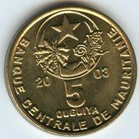 Mauritanie Mauritania 5 Ouguiya 2003 - 1423 UNC KM 3 - Mauritanie