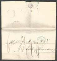 (D167) Lettre De BRUXELLES (càd En Bleu) Non Affranchie Vers Eich (Luxembourg) - 1830-1849 (Belgique Indépendante)