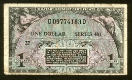 USA 1951, Military Payment Certifikcates, 1 $, One Dollar, D09774183D - 1951-1954 - Serie 481
