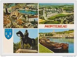 77 - MONTEREAU - MULTIVUES - PÉNICHES - BLASON - NAPOLÉON CHEVAL - Non Circulée - 2 Scans - - Montereau