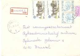 Belgique 1978 - Lettre Recommandée De MERELBEKE - Flandre Orientale - Cob 1743 X 2/1850/1892 X 2 - Belgique