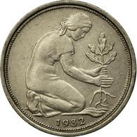 Monnaie, République Fédérale Allemande, 50 Pfennig, 1982, Karlsruhe, TTB - [ 6] 1949-1990 : GDR - German Dem. Rep.