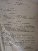 """Lettera Commerciale """"R.A.I.A. Rappresentanze Automobili Industrie Affini LINCOLN FORD"""" Anni '50 - Italia"""