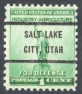 "USA Precancel Vorausentwertung Preo, Locals ""SALT LAKE CITY"" (UTAN). - Stati Uniti"