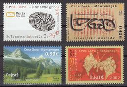 Montenegro 2007 Nature, Mountains, Butterflies, Definitive Set MNH - Montenegro