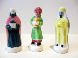 Fèves Brillantes - Nativité - Lot De 3 Rois Mages - Anciennes