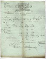 TONNEINS Dpt  Lot Et Garonne , LAPERCHE AINE LAVILLE ARBANERE & Cie  Manufacture Nationale De Tabac Facture 1812 - 1800 – 1899