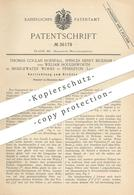 Original Patent - Thomas Coglan Horsfall, Spencer H. Bickham , W. Houldsworth Zu Bridgewater Works , Pendleton   Draht ! - Historical Documents