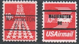 "USA Precancel Vorausentwertung Preo, Locals ""WASHINGTON"" (DC). 2 Différents.Timbres Neufs Avec Gomme. - United States"