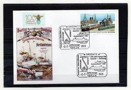 BRD, 2009, Brief Mit Michel 2746 Und Sonderstempel, 100 Jahre Königslinie Sassnitz - Trelleborg - BRD
