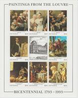 Bicentenaire Du Louvre 1993 Guyana 3124-31 ** MNH - Kunst