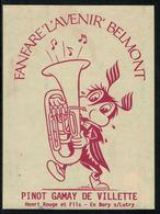 Rare // Etiquette De Vin //  Musique  // Pinot-Gamay, Fanfare, L'Avenir Belmont - Musique