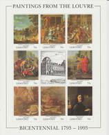 Bicentenaire Du Louvre 1993 Lesotho Poussin 1070-77 ** MNH - Altri