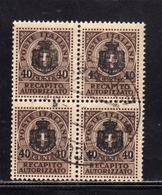 ITALIA REGNO ITALY KINGDOM 1945 LUOGOTENENZA RECAPITO AUTORIZZATO CENT. 40 SU 10c USATO ATO USED OBLITERE' - 5. 1944-46 Lieutenance & Umberto II