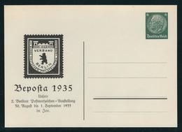 Privatpostkarte MiNr. PP 127 C 11, 30.8.-1.9.1935 Beposta 1935, Ungebraucht, 6 Pf Hindenburg Grün - Ganzsachen