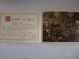 """Pieghevole  Illustrato """"ANTICHITA' S. MORLI MILANO - FORTE DEI MARMI"""" Anni '60 - Pubblicitari"""
