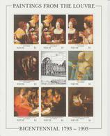 Bicentenaire Du Louvre 1993 Nevis La Tour 705-12 ** MNH - Art