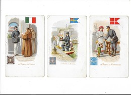 Lot De 3 Cartes - La POSTE - Au DANEMARK - En ITALIE - En SUEDE  -  L 1 - Poste & Facteurs