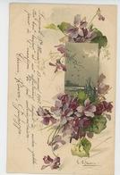 FLEURS - Jolie Carte Fantaisie Fleurs Violettes Signée CATHARINA KLEIN - Klein, Catharina