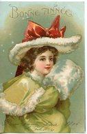 307. CPA ILLUSTRATEUR. BONNE ANNEE 1905 JEUNE FILLE AU MANCHON - Año Nuevo