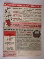 "Cartolina Risposta Pubblicitaria ""PRO CASA - ORPHEUS S.p.a. Roma"" 1957 - Pubblicitari"
