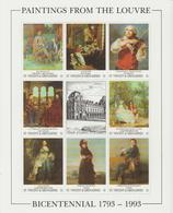 Bicentenaire Du Louvre 1993 St Vincent Et Grenadines 1687-94 ** MNH - Altri