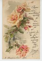 FLEURS - Jolie Carte Fantaisie Fleurs Roses Signée CATHARINA KLEIN - Klein, Catharina